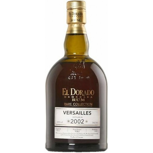 El Dorado Rare Collection Versailles 2002, 63% 70 cl. - Rom fra Guyana