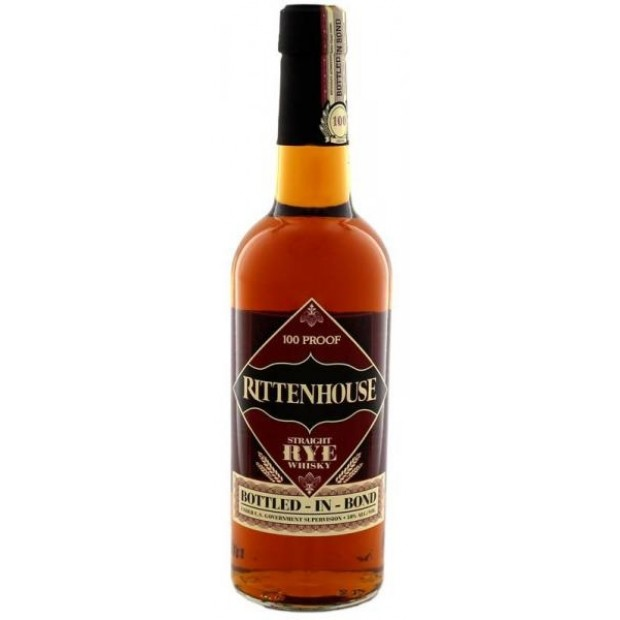 Rittenhouse Straight Rye Whiskey 100 Proof 50% 75 cl.