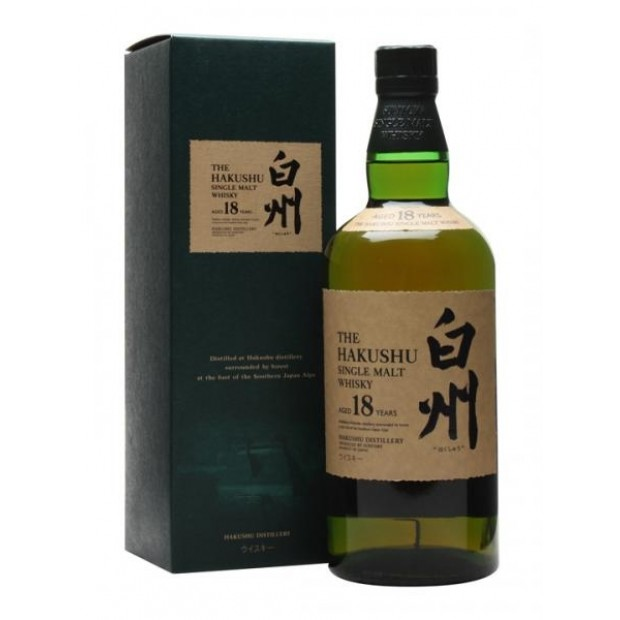 Hakushu 18 år Suntory 43% 70 cl. - Japansk Single Malt Whisky