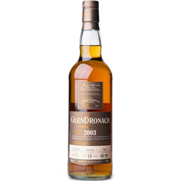 Glendronach 2003 Single Cask no. 5948 13 år 54,9% 70 cl. - Single Highland Malt