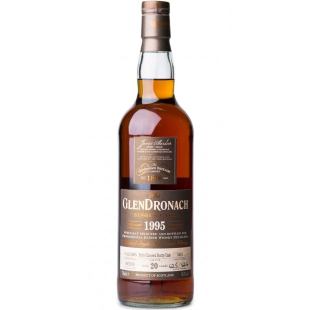 Glendronach 1995 Single Cask no. 5401 20 år 54,1% Single Malt Whisky