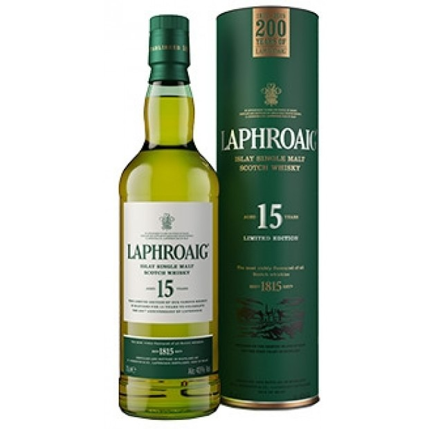 Laphroaig 15 år, 43% 70 cl. Single Islay Malt-00