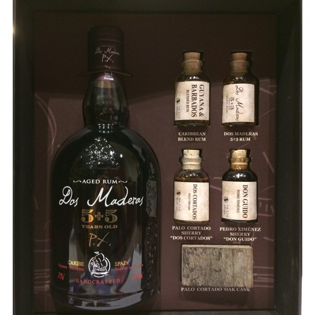 Dos Maderas Rom 5+5 Tasting Kit 40% 70 cl. + 4x2,2 cl.