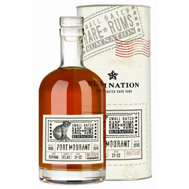 Rum Nation Rare Rums Port Mourant 17 år, 57,4% 70 cl