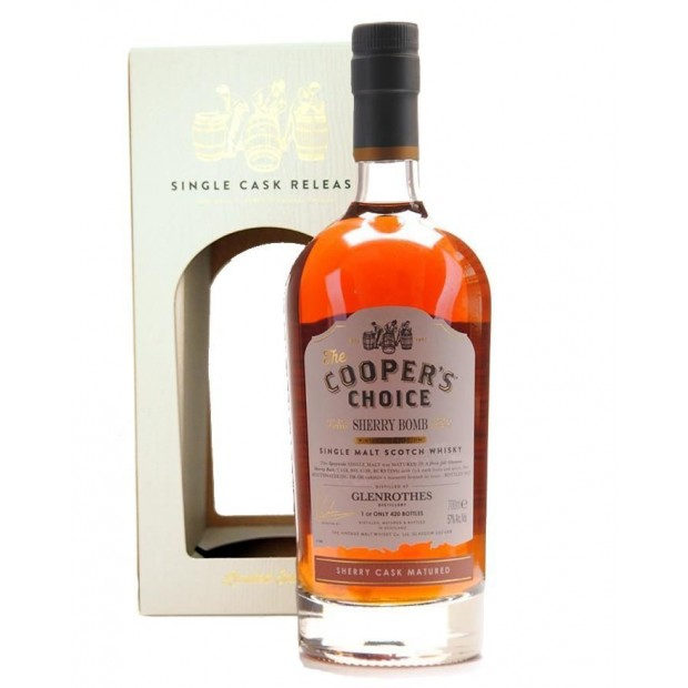 """The Cooper's Choice Glenrothes """"Sherry Bomb"""" 2017 57% 70 cl."""