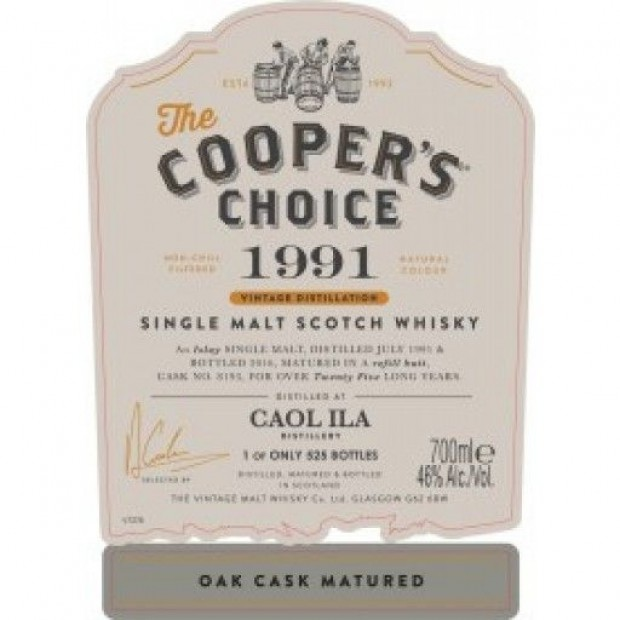 The Cooper's Choice Caol Ila 1991-2016 25 år 46% 70 cl.