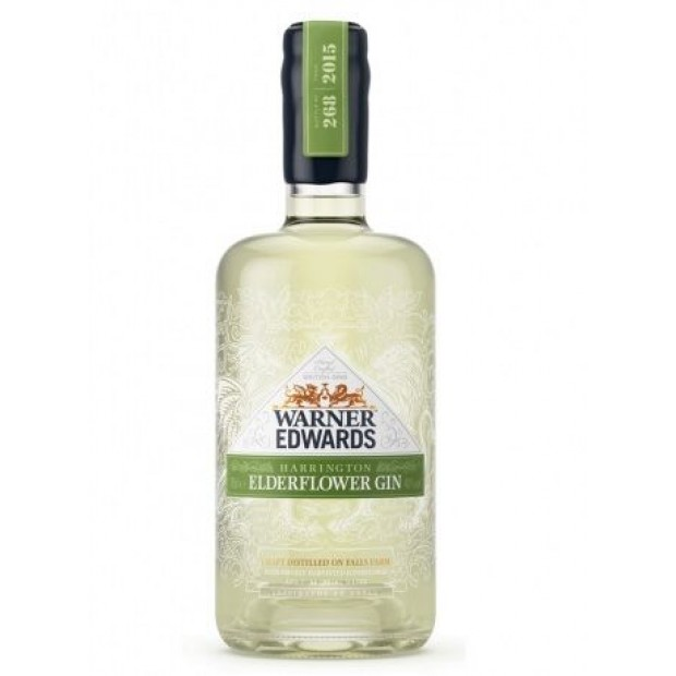 Warner Edward's Elderflower Gin, 40%