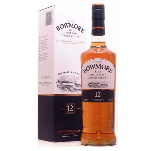 Bowmore 12 år. 40% 70 cl - Single Islay Malt