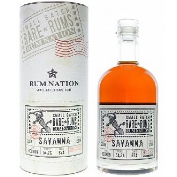 Rum Nation Rare Rums Savanna Réunion 10 år 2006-2016 54,2% 70 cl.