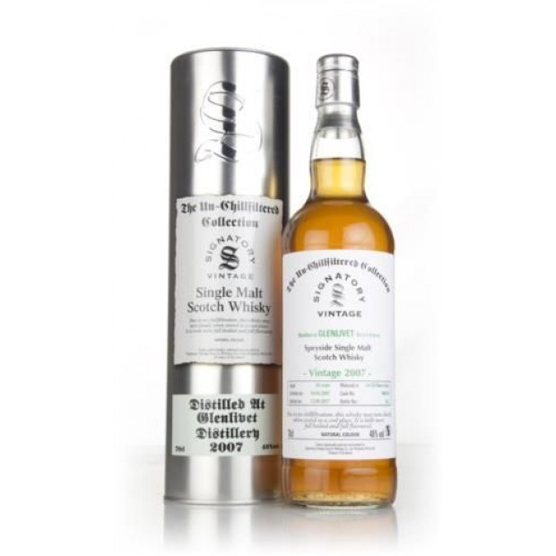 Glenlivet 2007 10 år, Signatory Unchillfiltered Collection 46% 70 cl.