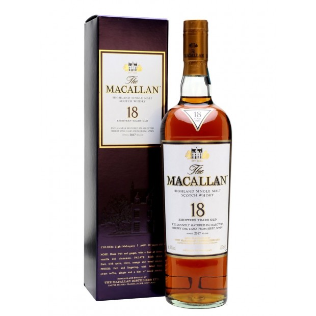 The Macallan 18 Years Old Sherry Oak, 2016, 43% 70 cl.