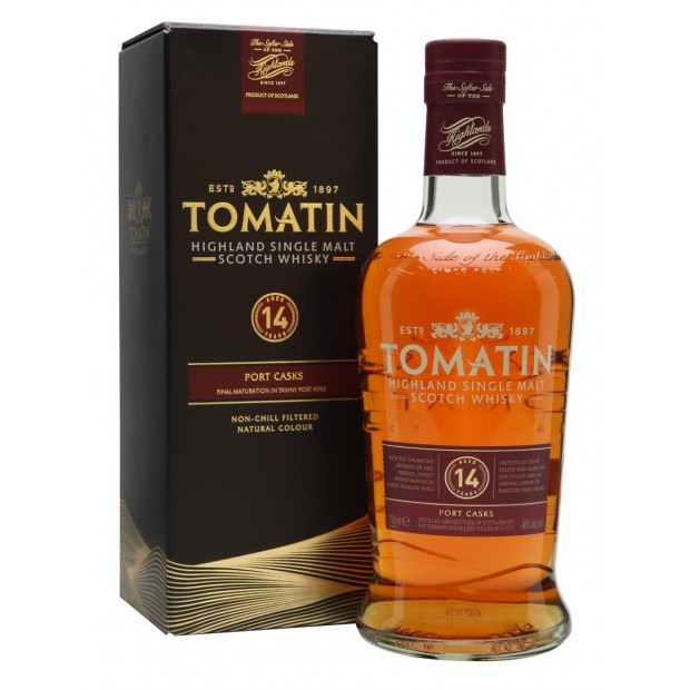 Tomatin 14 Years Old Port Casks 46% 70 cl.