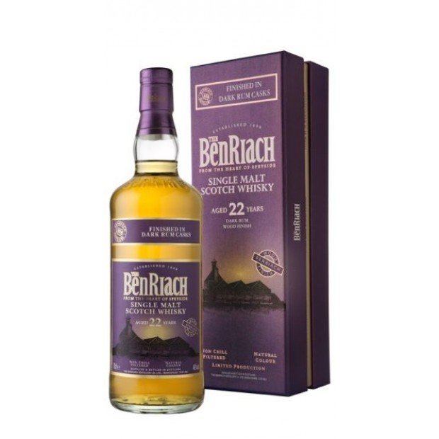 BenRiach 22 Years Whisky Dark Rum Finish. 46%