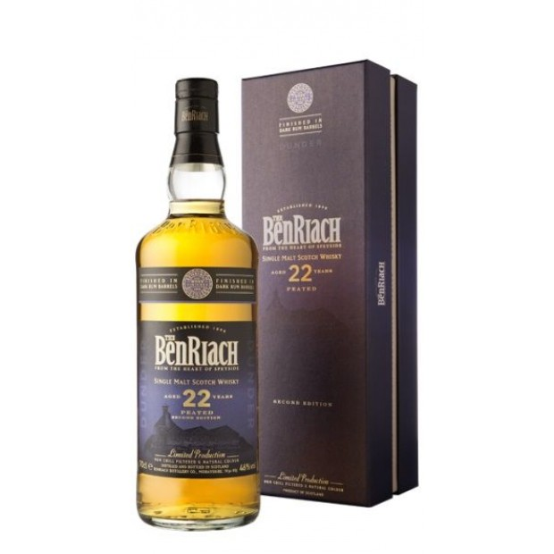 BenRiach 22 Years Dunder, Dark Rum Finish. 46%, 70 cl.