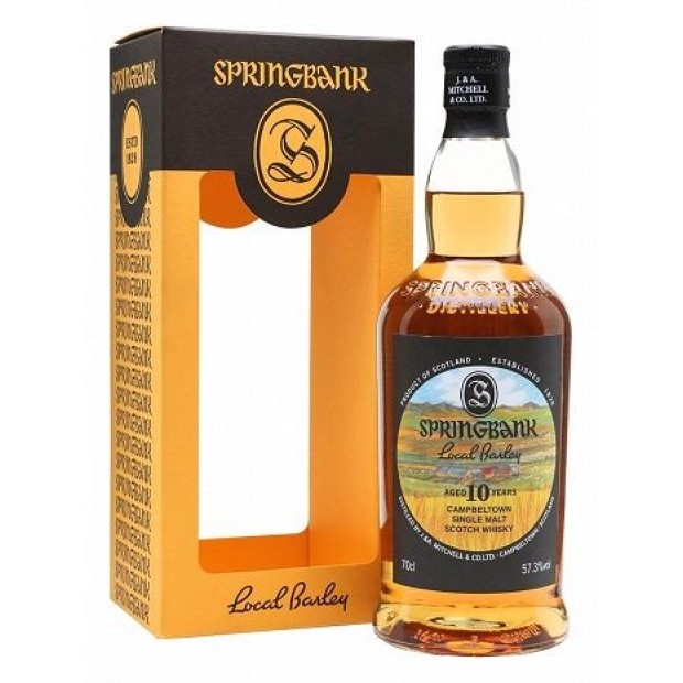 Springbank Local Barley 2009-2019, 10 år. 56,2%