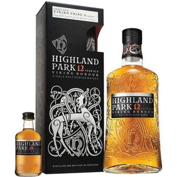 Highland Park 12 Years 70 cl. + gratis 5 cl. 18 Years Whisky