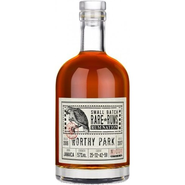 Rum Nation Worthy Park, Jamaica 11 år. 57% 70 cl.
