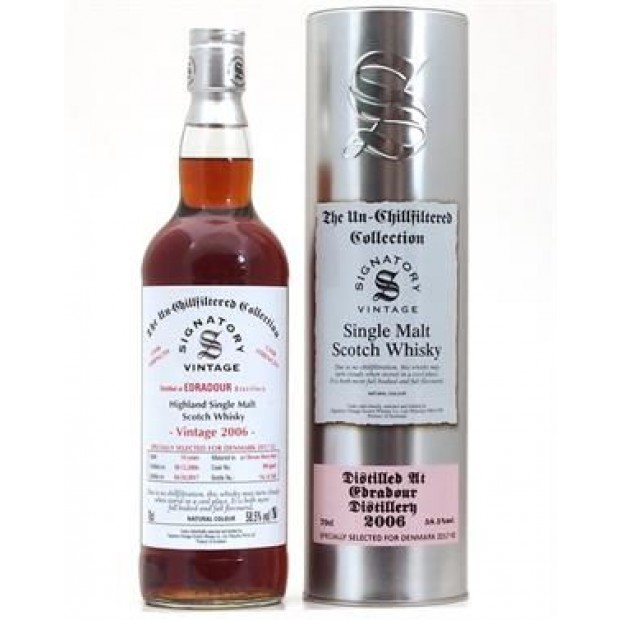 Edradour 2006 10 år, Signatory Unchillfiltered Collection 58,5% 70 cl.