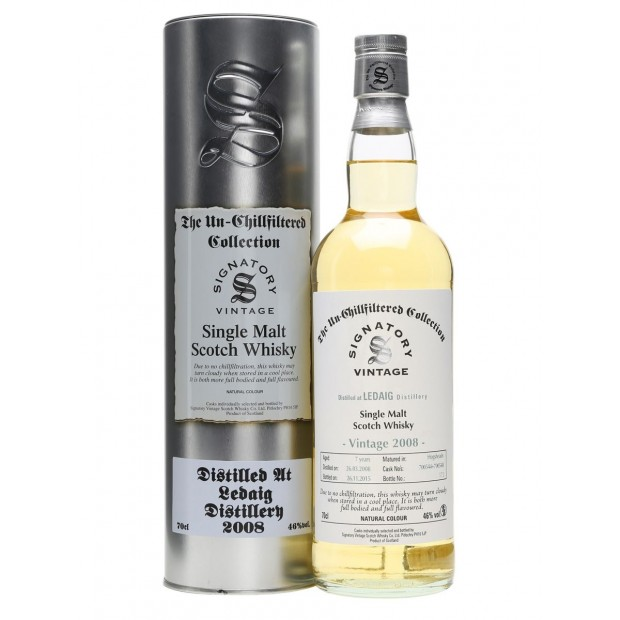 Ledaig 2008 7 år, Signatory Unchillfiltered Collection 46% 70 cl.
