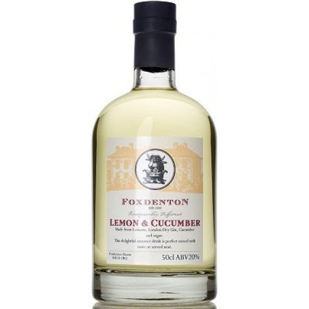 Foxdenton Lemon & Cucumber Gin. 20%, 50 cl.