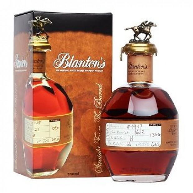 Blanton's Straight from the barrel Bourbon. 64,8%. 70 cl.
