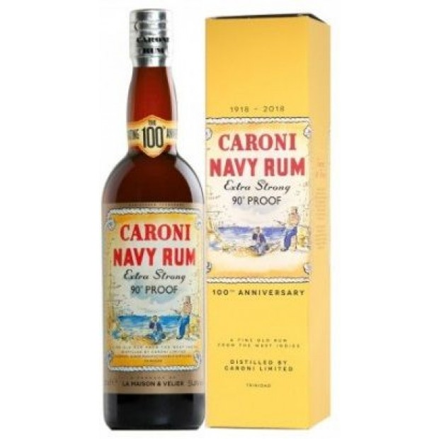 Velier Caroni Navy Rum 18 år. 51,4%, 70 cl. 100th Anniversary Edition