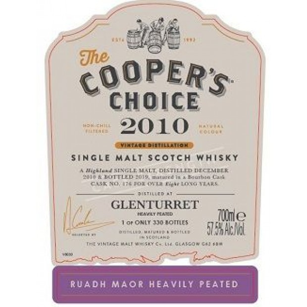Glenturret Ruadh Maor Heavily Peated. 57,5%, 70 cl. Coopers Choice