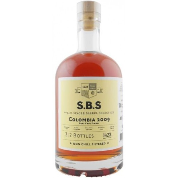S.B.S Colombia 2009 Port Cask Finish. 46%, 70 cl. Single Barrel Selection