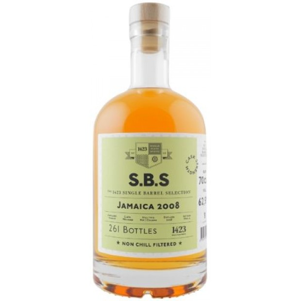 S.B.S Jamaica 2008. 62,9%, 70 cl. Single Barrel Selection.