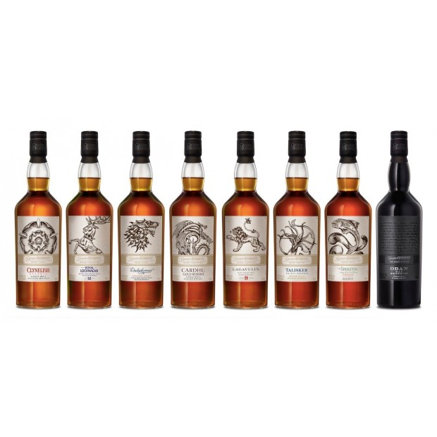 Game of Thrones Whisky Collection - 8 flasker