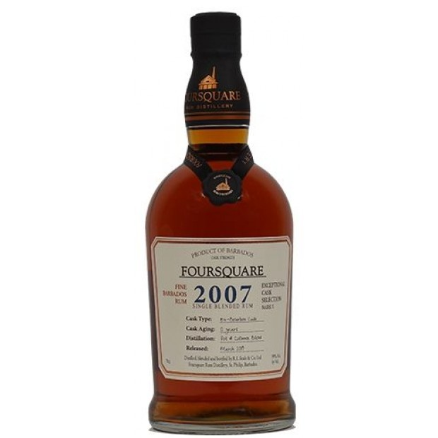 Foursquare rom 2007, 12 år, Exceptional Cask Selection. 59%