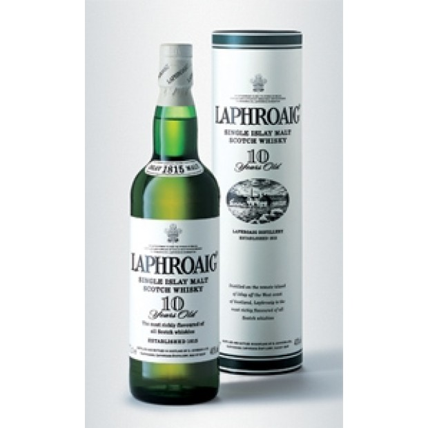 Laphroaig 10 år, 40% 70 cl. - Single Islay Malt