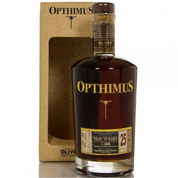 Opthimus 25 år Malt Whisky Finish 43% 70 cl. - Rom fra Den Dominikanske Republik
