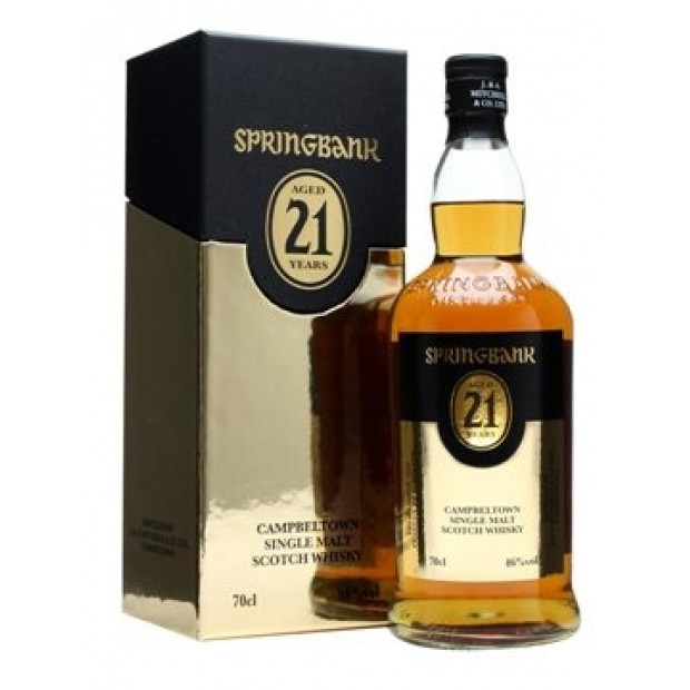 Springbank 21 års. 46%, 70 cl. - Whisky fra Campbeltown