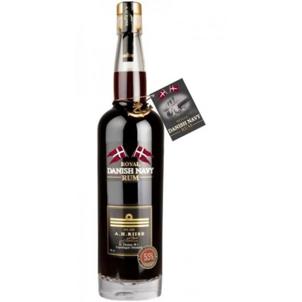 "A. H. Riise Royal Danish ""Navy Strength"" Rum. 55%"