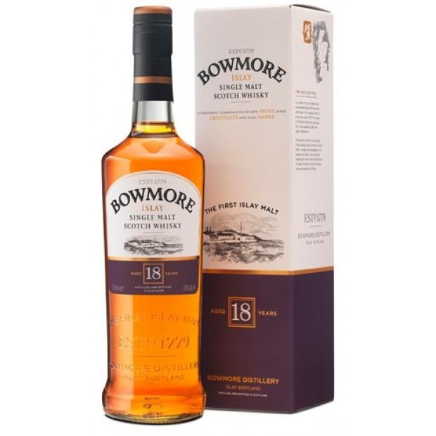 Bowmore 18 år, 43% 70 cl. - Single Islay Malt