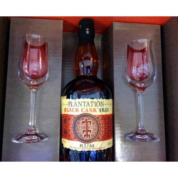Plantation Black Cask 2017 Limited Edition, 40% 70 cl. - I gaveæske + 2 glas.