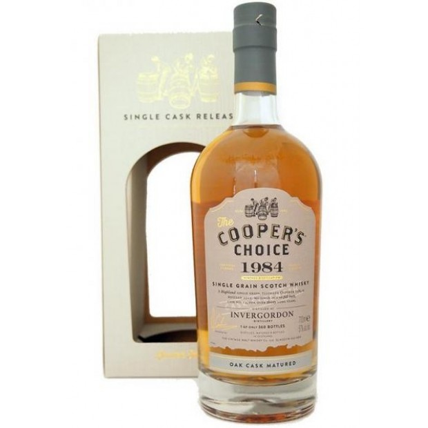 The Coopers Choice Invergordon 1984 30 år, Cask no. 12, 57% 70 cl. Highland Grain Whisky-0