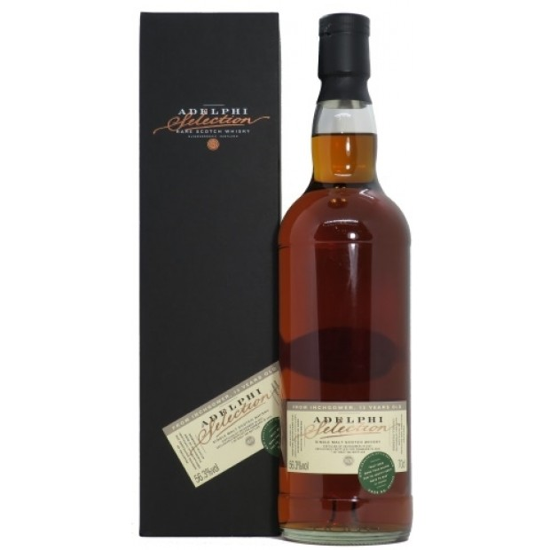 Inchgower 2007, 13 Years Whisky 56,3% Adelphi