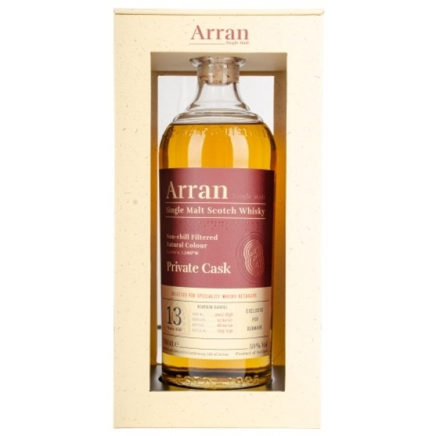 Arran Whisky Bourbon Barrel 2007, 13 Years 59%. Exclusive for Denmark