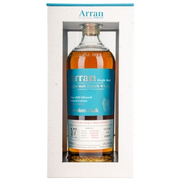 Arran Whisky Sherry Butt 2003, 17 Years 56,5%. Exclusive for Denmark
