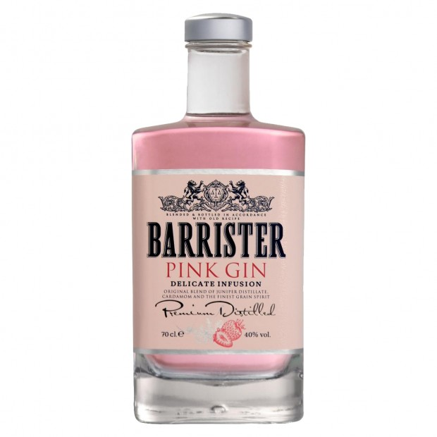 Barrister Pink Gin. 40%