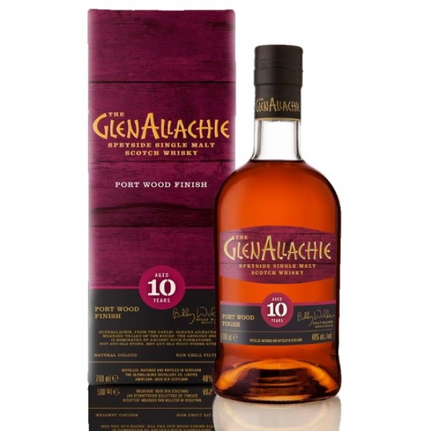 GlenAllachie 10 år, Port Wood Finish. 48%