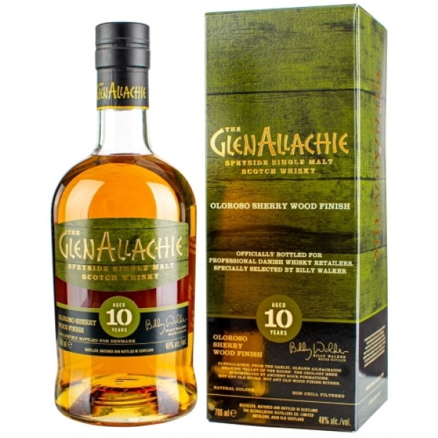 GlenAllachie 10 år, Bottled for Denmark. Oloroso Finish. 48%