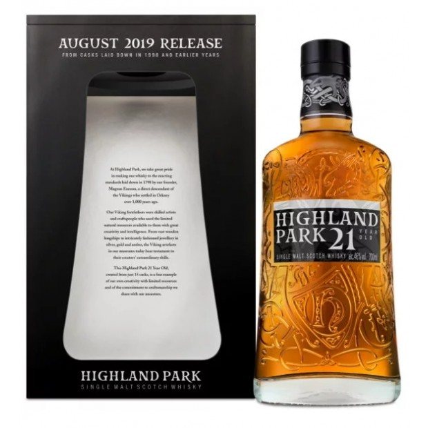 Highland Park 21 Years Whisky 2019 Release. 46%