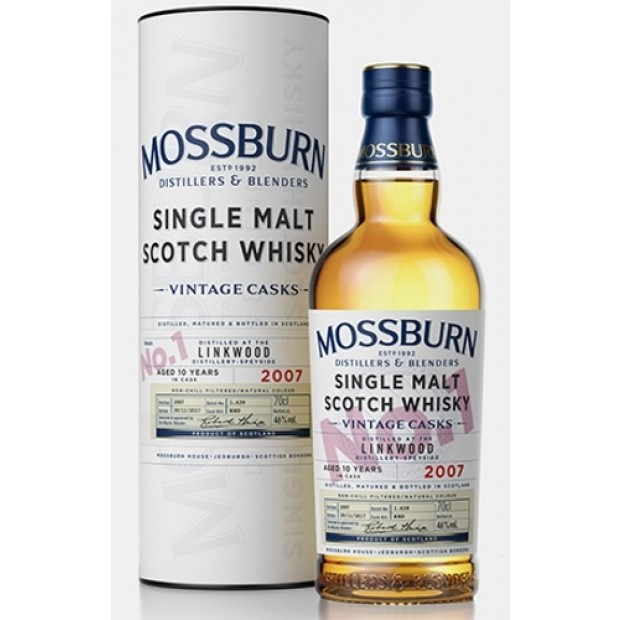 Linkwood 10 års 46% Mossburn Single Malt Whisky