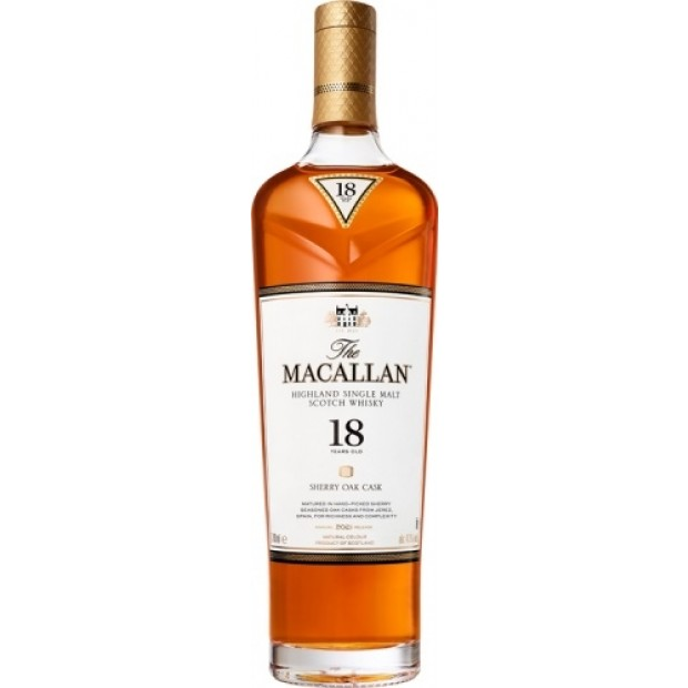 The Macallan Whisky 18 Years Old Sherry Oak 43% 2021 Release