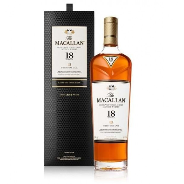 The Macallan Whisky 18 Years Old Sherry Oak, 2020 Release, 43%