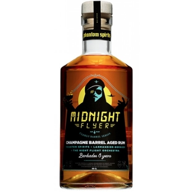 Midnight Flyer 8 Years Barbados Rum, Champagne Barrel Aged.