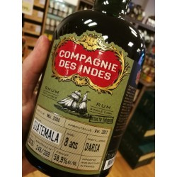 Compagnie des Indes Single Cask Guatemala 8 år 58,9% 70 cl. Bottled for Vinkyperen-20